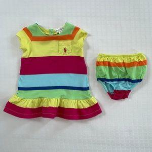 Ralph Lauren Rainbow Striped Dress 6 months